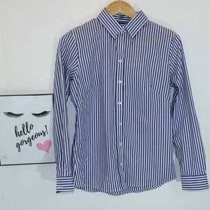Banana Republic Fitted Stripped Button Down